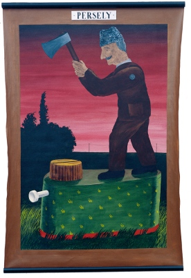 Money Box, 1987170x110 cm, acrylic on canvas© Regős István