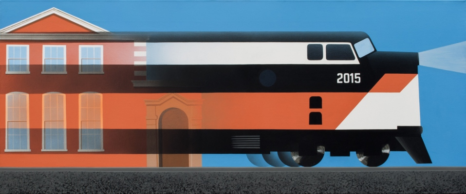Express, 201550x120 cm, acrylic on canvas© Regős István