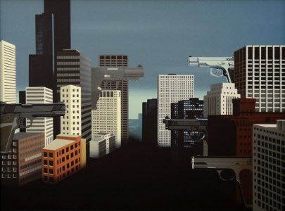 Chicago, 201360x80 cm, acrylic on canvas© Regős István