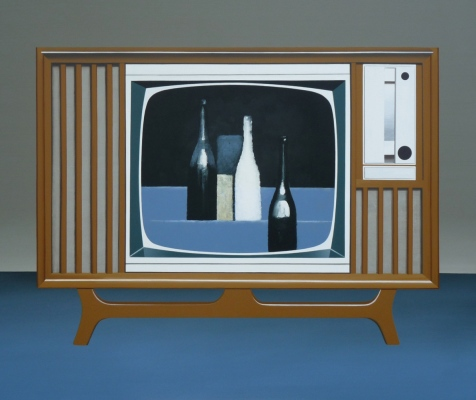 Cocktail Cabinet, Hommage á G. Morandi, 2015110x130 cm, acrylic on canvas© István Regős